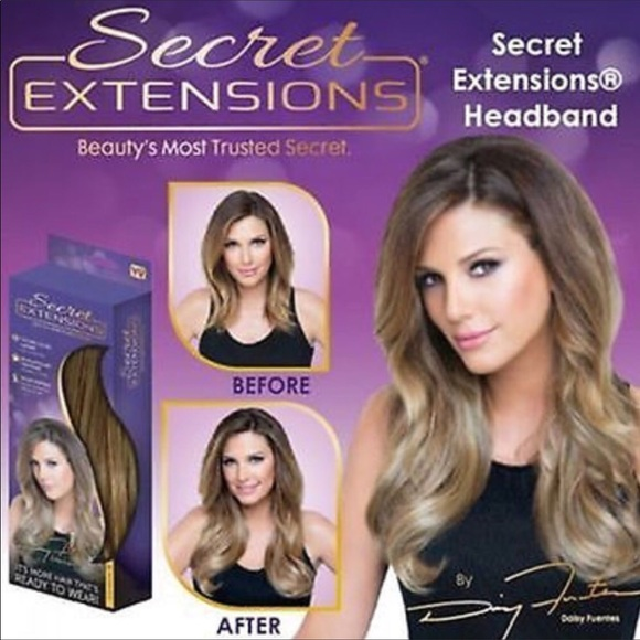 Secret Hair Extensions By Daisy Fuentes Nwt